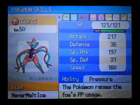 Changing Deoxys' Forms In The 4th Gen