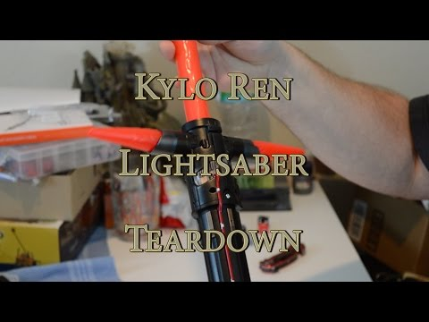 Disney Store Kylo Ren Lightsaber - Review & Disassembly - with Oledreth Malorn