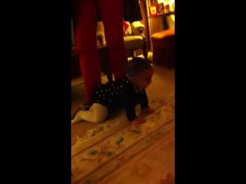Teaching a baby to crawl - the QUICK way!