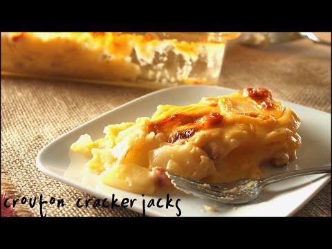 Cheesy Au Gratin Potatoes w/ Ham Recipe!!
