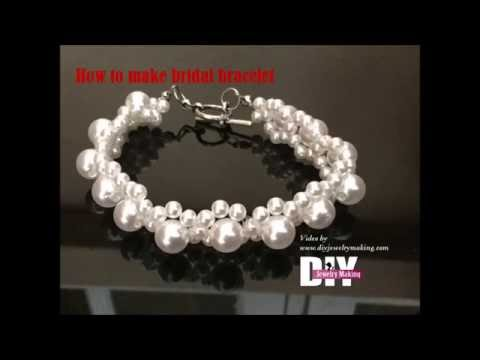 How to make bridal bracelet with pearls