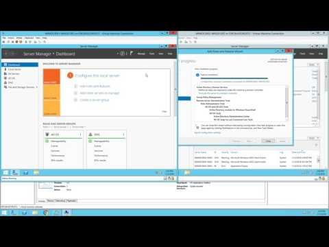 Adding and Configuring the Active Directory Domain Services Role to Hyper-V Virtual Machines