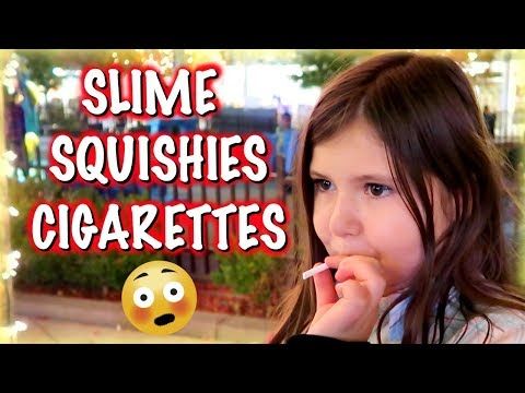 MY FIRST CIGARETTE!?! | SQUISHY HUNTING AT JAPANESE STORE at Las Vegas Container Park!!!!