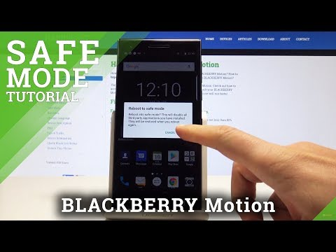 How to Boot into Safe Mode in BLACKBERRY Motion - Enter & Quit Safe Mode