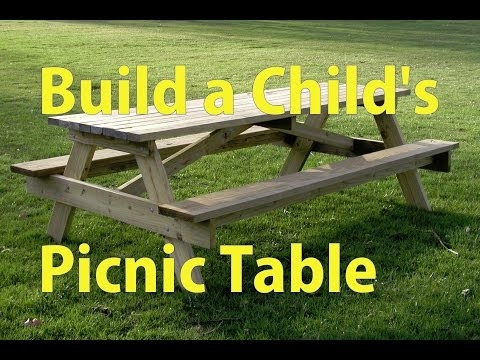 Building a Child's Picnic Table - a woodworkweb video