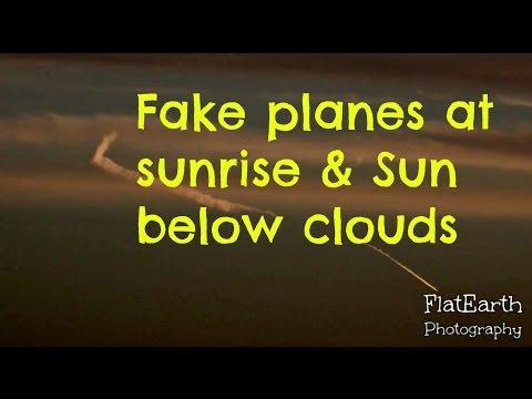 Fake planes - No chemtrails & sun below clouds - Nikon coolpix P900