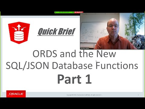 ORDS and the New SQL/JSON Database Functions - Part 1