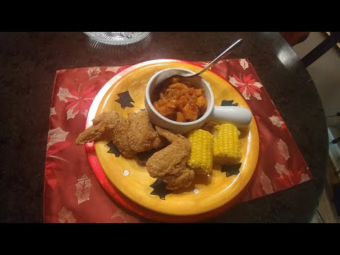 Brown Sugar Yams , Fried Chicken & Corn on the Cob!