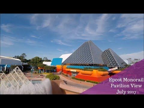 Epcot Monorail Pavilion View 2017 | Walt Disney World