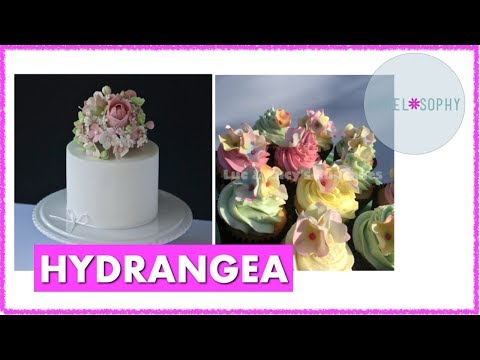 Making Sugar Flowers: Gumpaste Hydrangea, Best Filler flower, Wired and for Cupcakes