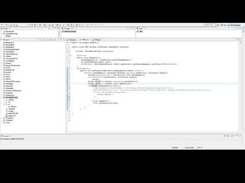 Tutoriel Plugin java Minecraft EntityDamageEntityEvent et Permissions