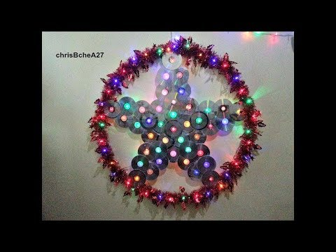 DIY# 49 36 inches Xmas Lantern/ Parol from Recycled CD and DVD