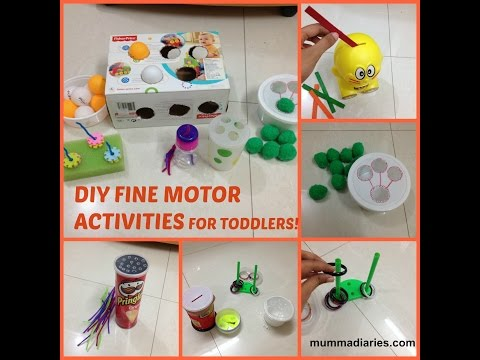 12 fun & simple FINE MOTOR ACTIVITIES for toddlers!