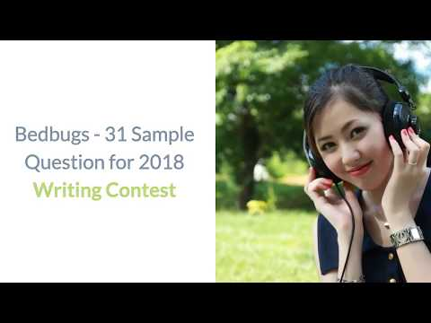 31 questions Writing Contest for Teens Bed Bug Awareness Week 2018