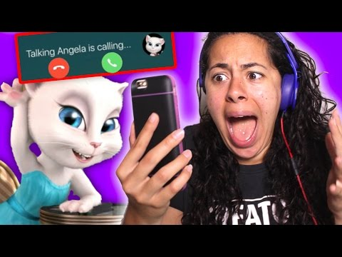 Talking Angela CALLED me on the phone!! (Mystery Gaming)