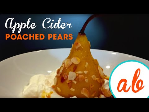 Apple-Cider Poached Pears | Andrea Buckett