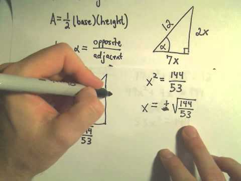 Trigonometric Functions To Find Unknown Sides of Right Triangles, Ex 1