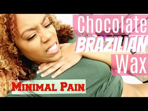 LEAST PAINFUL BRAZILIAN WAX EXPERIENCE EVER! | Chocolate Wax