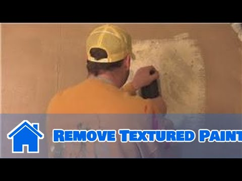 Interior Painting Tips : How to Remove Textured Paint