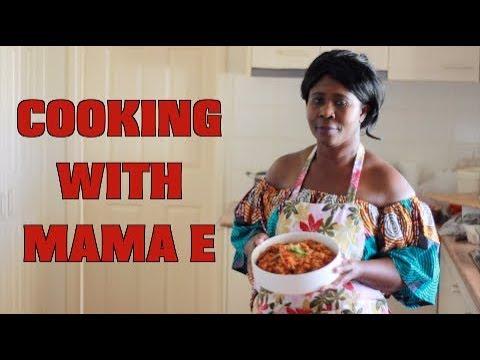 COOKING WITH MAMA E | GHANA JOLLOF #ROUND2
