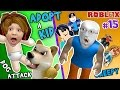 ROBLOX ADOPT RAISE A CUTE KID Dog Attacks Baby FGTEEV Part 15 Whos Your Daddy Style Roleplay