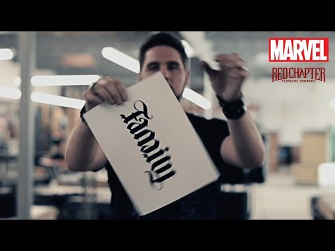 MARVEL teams up with Red Chapter on First-Ever Ambigram T-shirts