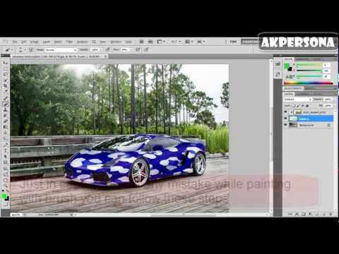 How to color car with cheetah/zebra pattern on photoshop