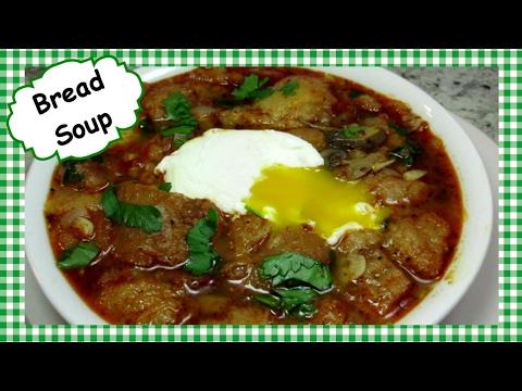 How to Make Garlic Bread Soup ~ Easy Homemade Bread Soup Recipe