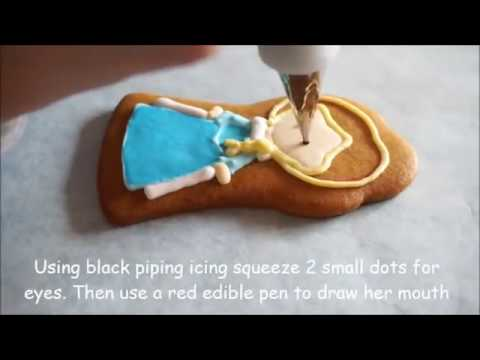 How to Decorate Elsa from Frozen Cookie Tutorial
