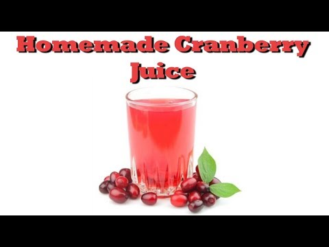 How To Make Homemade Cranberry Juice   Drinks Made Easy