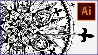 How To Draw A Mandala In Adobe Illustrator Speedpaint Swanstardesigns