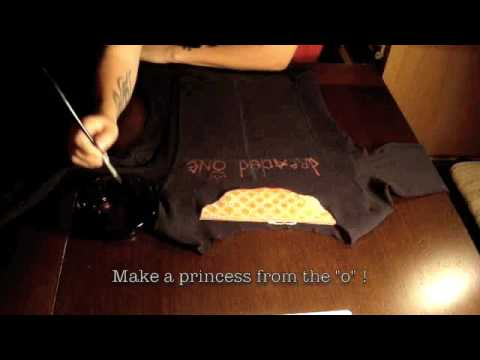 How to paint on t shirts with household bleach