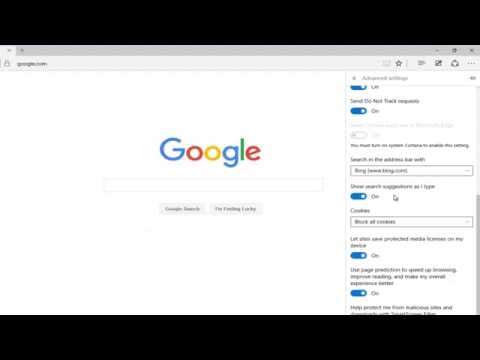 Disable Cookie Tracking In Microsoft Edge Browser