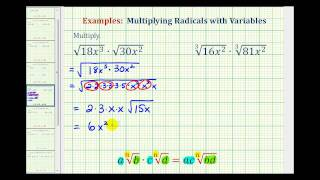 Ex Multiply Radicals With Variables