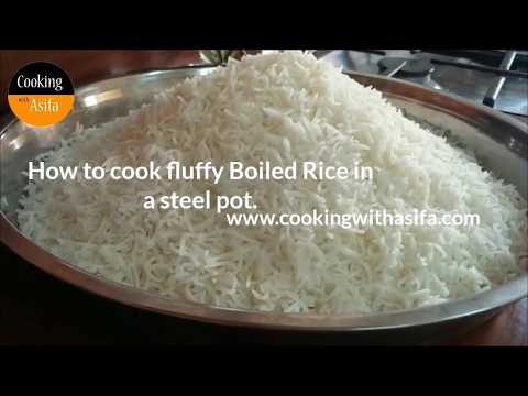 How to cook Fluffy Boiled Rice in a Steel Pot