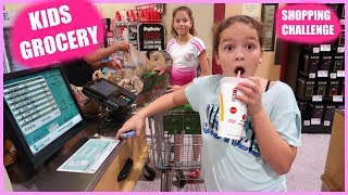 """KIDS GROCERY SHOPPING CHALLENGE """" No Budget """"  