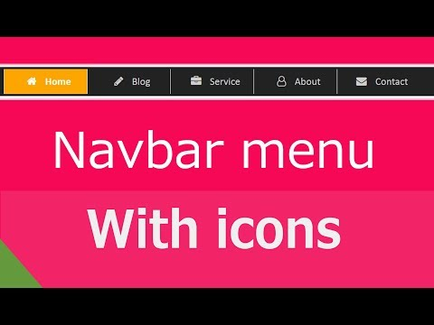 How to add icons in navigation bar menus using css | web zone