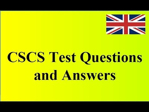 CSCS test - browse the CSCS training by titles