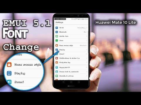How to Change Font Style On Huawei Mate 10 lite | Nova 2i | Honor 9i | EMUI 5.1 Font Changer!