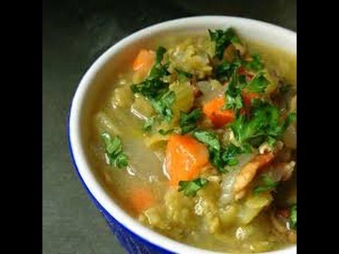 Lentil Split Pea Soup Crockpot Recipe Vegan HCLF