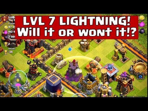 Clash of Clans - UPDATE: ♦Testing new LIGHTNING SPELL LVL 7♦