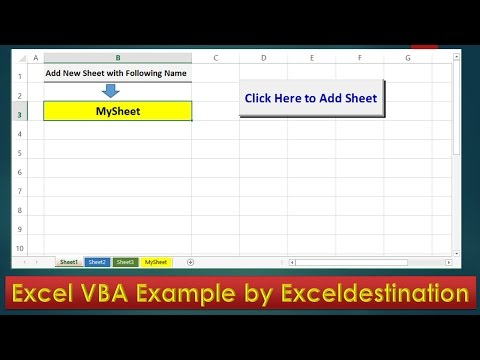 VBA Code to Add New Sheet and Rename - Excel VBA Example by ExcelDestination