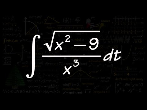 Trig Substitution, Sect 7.3 #13, integral of sqrt(x^2-9) /x^3