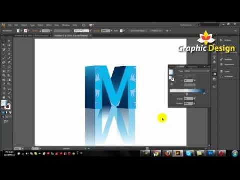 3D Text Illustrator Tutorial Adobe Illustrator CS6