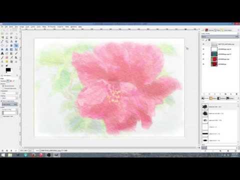 Watercolor effect using GIMP 2.8
