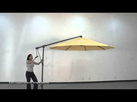 Side-mount Cantilever Outdoor Umbrella