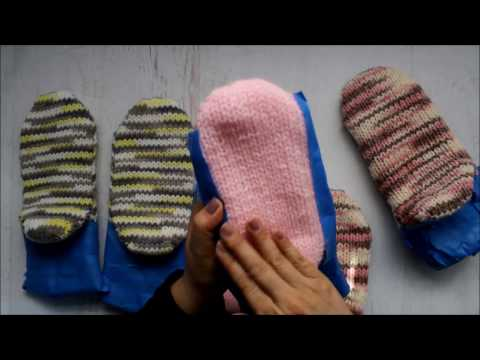 How to make knit slippers non slip   Did it work  Find out now!