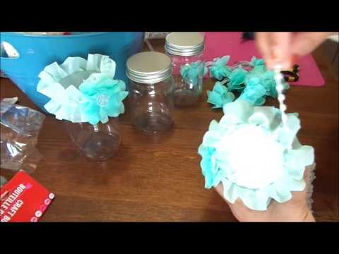 Craft With Me : Altered Dollar Tree Jars- Process