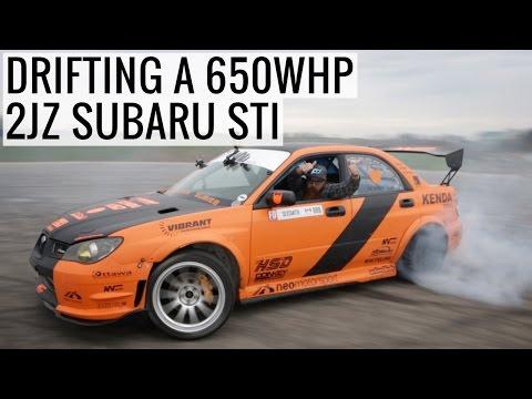 Drifting a 650WHP 2JZ Powered Subaru STI!