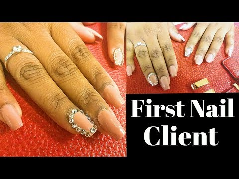 My First Nail Client: Acrylic Nails